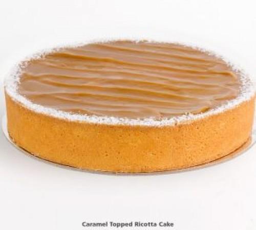 Caramel Ricotta Baked Cheese Cake