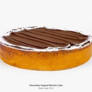 Chocolate Ricotta Baked Cheese Cake